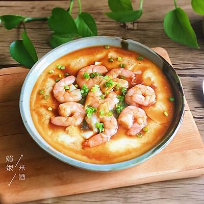虾仁鸡蛋蒸豆腐