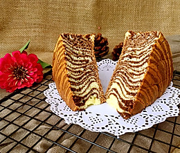 斑马纹酸奶蛋糕(8寸)的做法