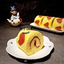 爱心草莓酱蛋糕卷
