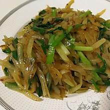 韭菜炝炒土豆丝