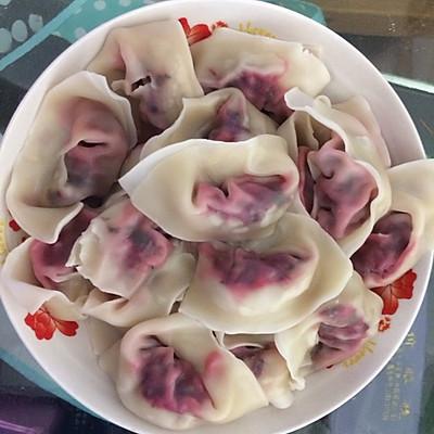 苋菜猪肉饺