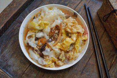 白菜腐皮猪肉肠粉