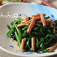 韭菜炒海肠的做法图解7
