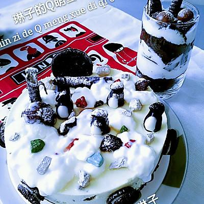 奥利奥Q萌雪地小企鹅冰酪蛋糕