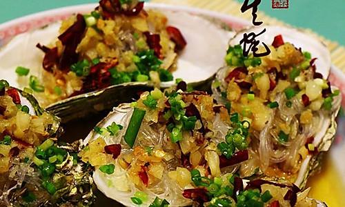 菜男蒜茸生蚝肉的做法