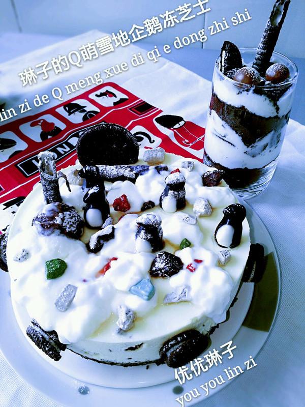 奥利奥Q萌雪地小企鹅冰酪蛋糕的做法