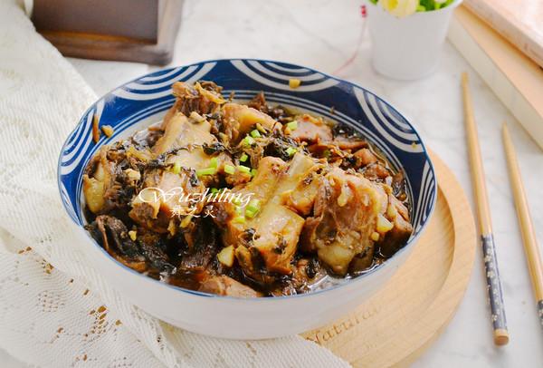梅干菜蒸软排
