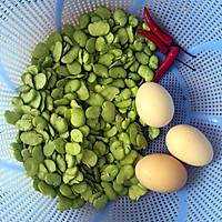 蚕豆米炒蛋的做法图解1