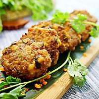 养生和美味兼得的香菜豆腐肉饼#我买新鲜味#的做法图解7