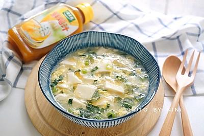 鸡汁青菜豆腐羹