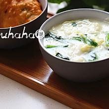 菠菜鸡蛋疙瘩汤