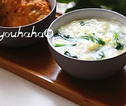 菠菜鸡蛋疙瘩汤的做法