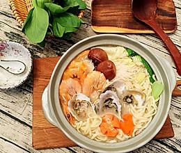 骨汤海鲜面的做法