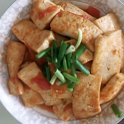 西红柿煎豆腐