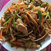 肉片炒三菇