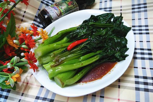 #菁选酱油试用之 白灼菜心的做法