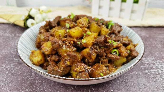 孜然土豆牛肉,烧烤味超解馋
