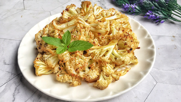 #父亲节,给老爸做道菜# 快手烤花菜
