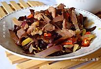 降脂的洋葱木耳炒肉的做法
