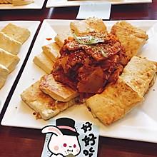 泡菜五花肉煎豆腐