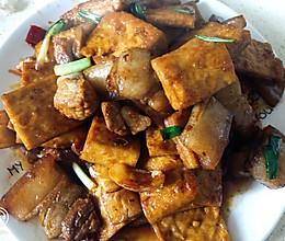 白豆腐干烧肉肉的做法