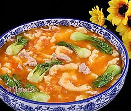 """炎炎夏日胃口不开, 做一份味道鲜美的""""番茄疙瘩汤""""来打开您的的做法"""