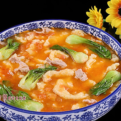"""炎炎夏日胃口不开, 做一份味道鲜美的""""番茄疙瘩汤""""来打开您的"""