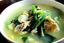 菠菜扇贝汤的做法