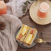 早餐 全麦三明治厚蛋烧