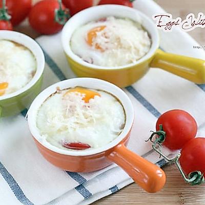 懒人法式早餐-西红柿蒸烤蛋