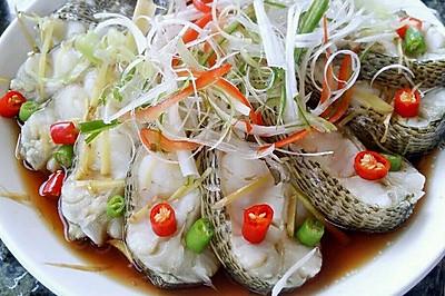 李孃孃爱厨房之一一清蒸鲈鱼(孔雀开屏鱼)