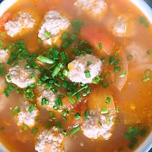 西红柿肉丸汤