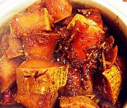 红烧南瓜(红烧素肥肉)的做法