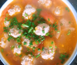西红柿肉丸汤的做法