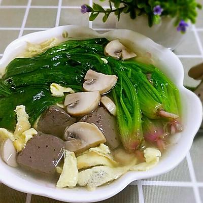 菠菜蘑菇鸭血汤