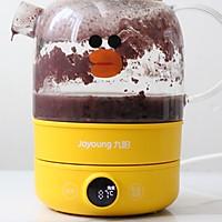 #憋在家里吃什么#比奶茶还要好喝的奶香红豆黑米粥的做法图解3