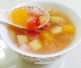 营养五彩水果羹的做法