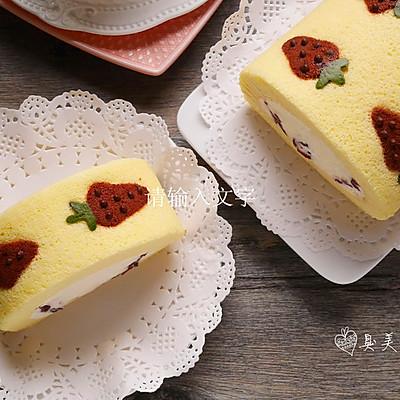 史上最详细彩绘毛巾卷-蔓越莓奶油彩绘毛巾卷