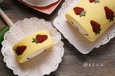 史上最详细彩绘毛巾卷-蔓越莓奶油彩绘毛巾卷#最萌缤纷儿童节#