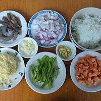 剩米饭华丽大变身——虾仁芝士焗饭的做法图解1
