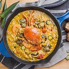 黄金海鲜汤泡饭