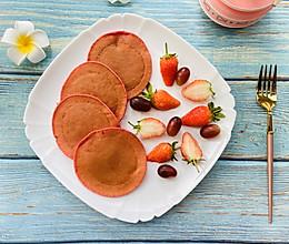 粉红少女心|红心火龙果松饼的做法