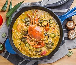 黄金海鲜汤泡饭的做法