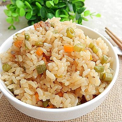 胡萝卜豆角焖饭——冬季暖身