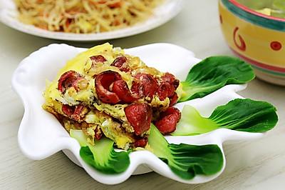 欧洲风情:罗勒火腿红肠煎蛋