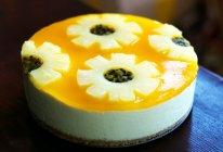 百香果菠萝慕斯蛋糕(免烤版)的做法