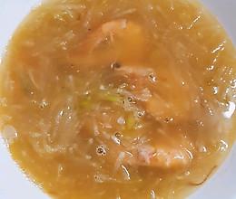 鲜虾萝卜丝汤的做法