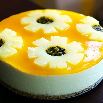 百香果菠萝慕斯蛋糕(免烤版)