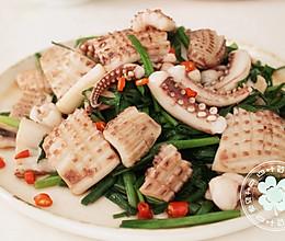 韭菜鱿鱼的做法