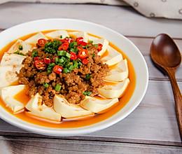 肉末蒸豆腐,10分钟搞定鲜香快手下饭菜 #美食视频挑战赛#的做法